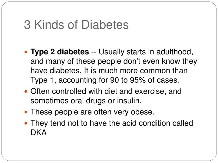 3 Kinds of Diabetes