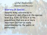 global biodiversity patterns and processes13