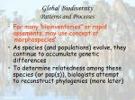 global biodiversity patterns and processes15