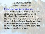 global biodiversity patterns and processes27
