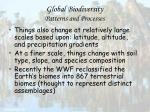 global biodiversity patterns and processes31