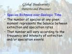 global biodiversity patterns and processes33