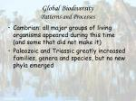 global biodiversity patterns and processes42