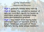global biodiversity patterns and processes51