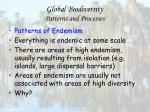 global biodiversity patterns and processes54