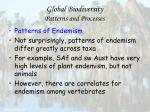 global biodiversity patterns and processes56