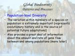 global biodiversity patterns and processes6