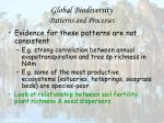 global biodiversity patterns and processes68