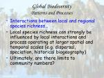 global biodiversity patterns and processes77