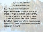 global biodiversity patterns and processes88