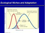 ecological niches and adaptation1