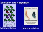 evolution and adaptation1