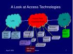 a look at access technologies