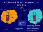 could use ieee 802 16 d wimax for long links
