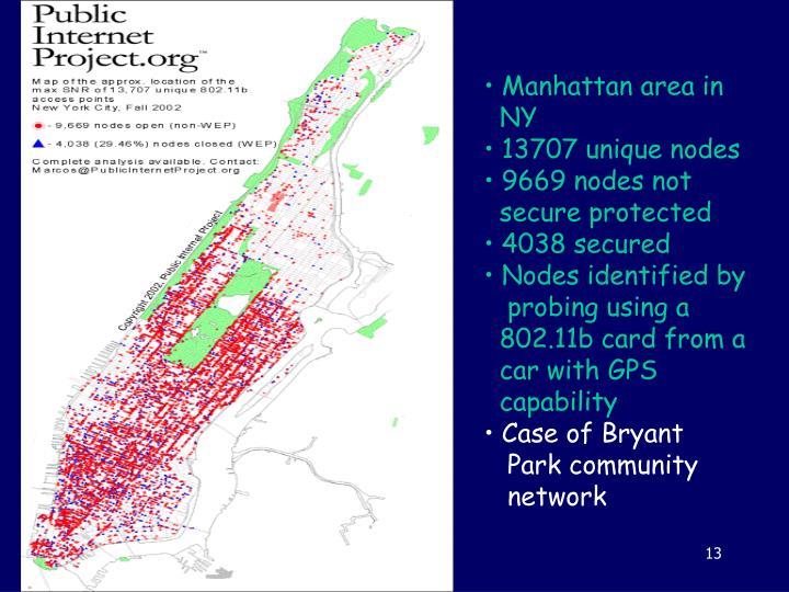 Manhattan area in