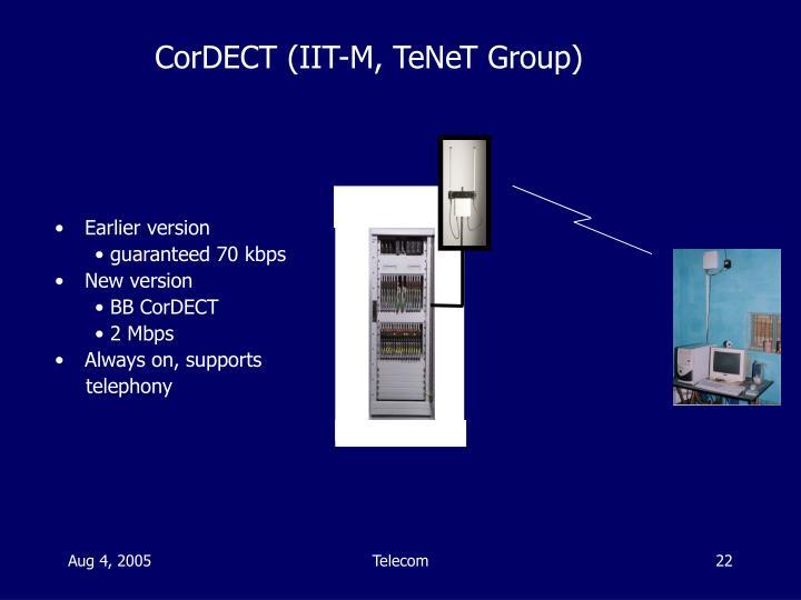 CorDECT (IIT-M, TeNeT Group)
