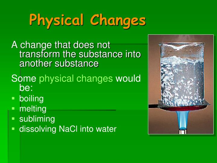 Physical Changes