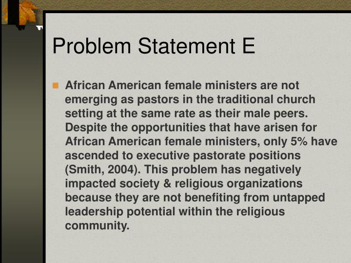 Problem Statement E