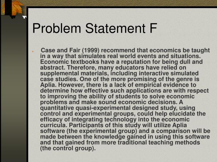 Problem Statement F