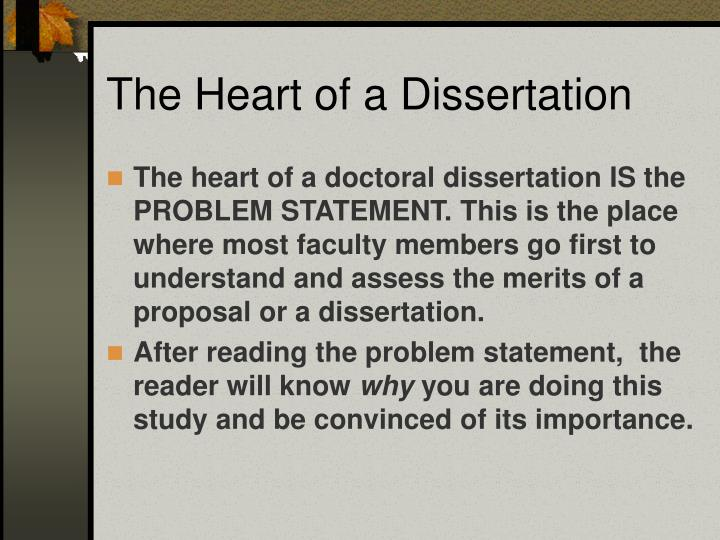 The heart of a dissertation