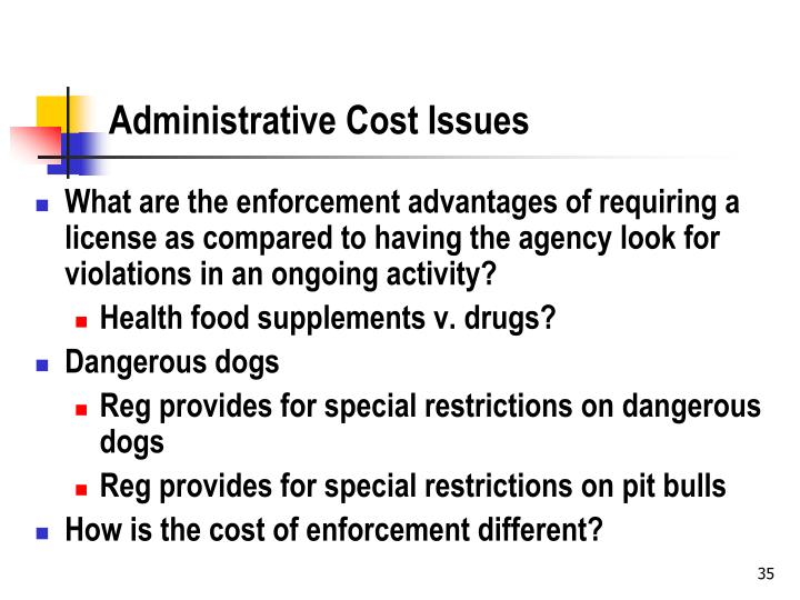 Administrative Cost Issues