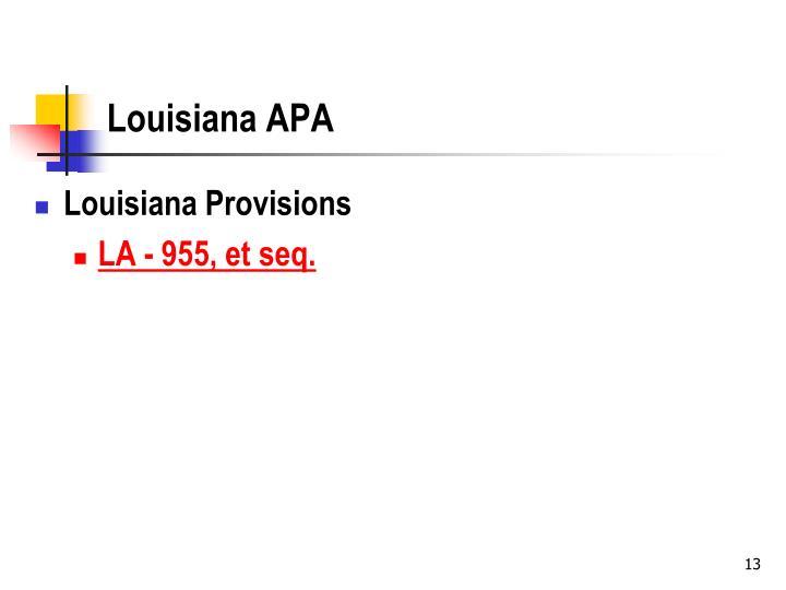 Louisiana APA