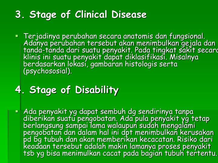 3. Stage of Clinical Disease