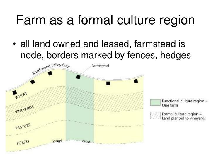 Farm as a formal culture region