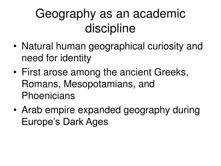 Geography as an academic discipline