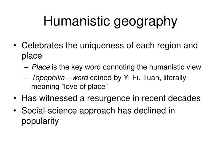 Humanistic geography