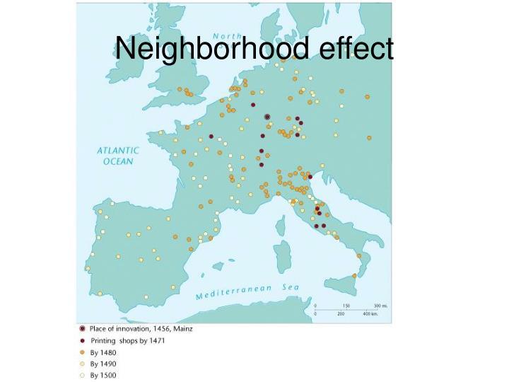 Neighborhood effect