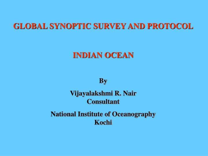GLOBAL SYNOPTIC SURVEY AND PROTOCOL
