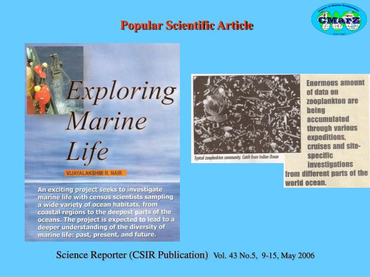 Popular Scientific Article