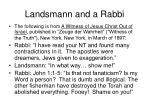 landsmann and a rabbi