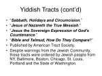 yiddish tracts cont d