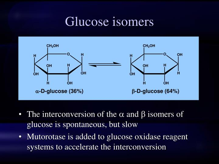 Glucose isomers