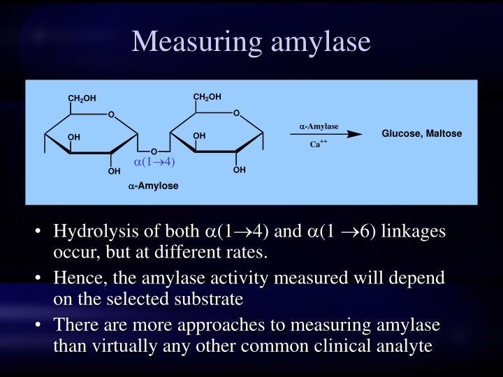 Measuring amylase