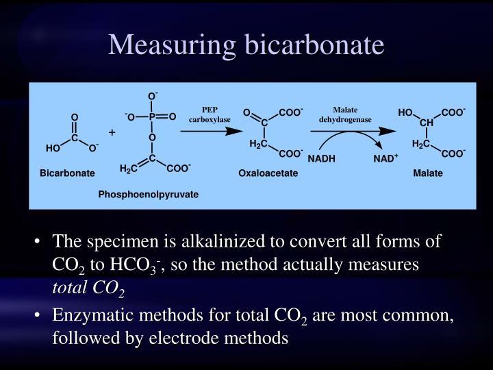 Measuring bicarbonate