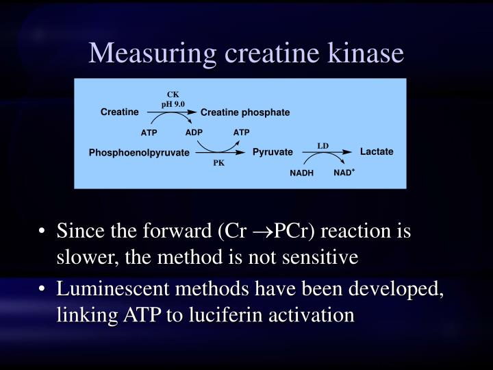 Measuring creatine kinase