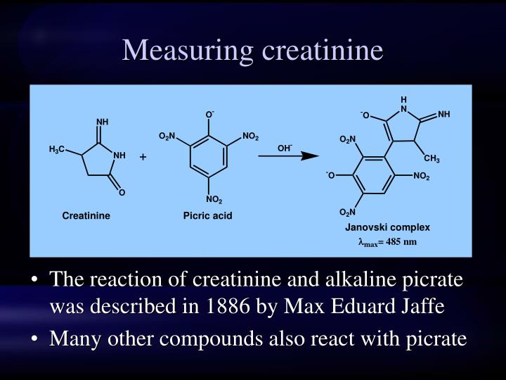 Measuring creatinine