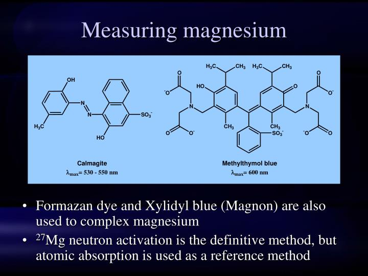Measuring magnesium