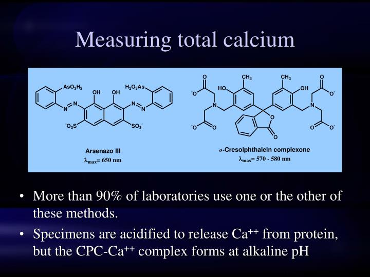 Measuring total calcium