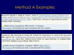 method a examples