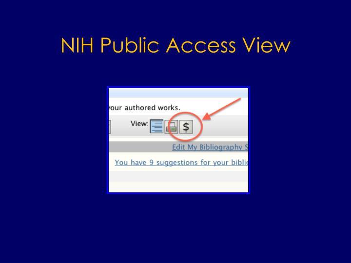 NIH Public Access View