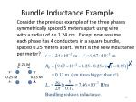 bundle inductance example