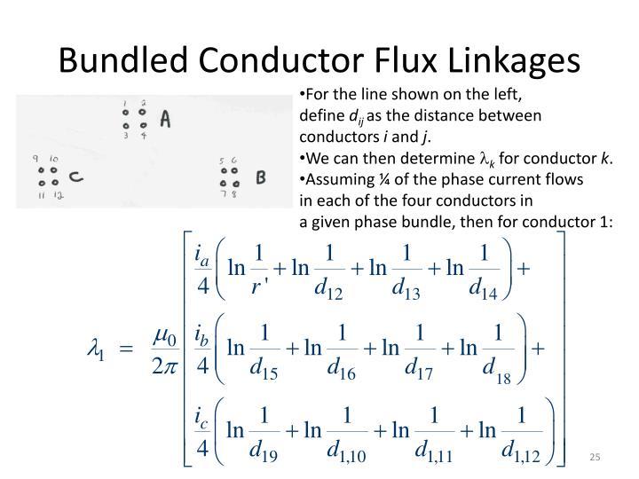 Bundled Conductor Flux Linkages
