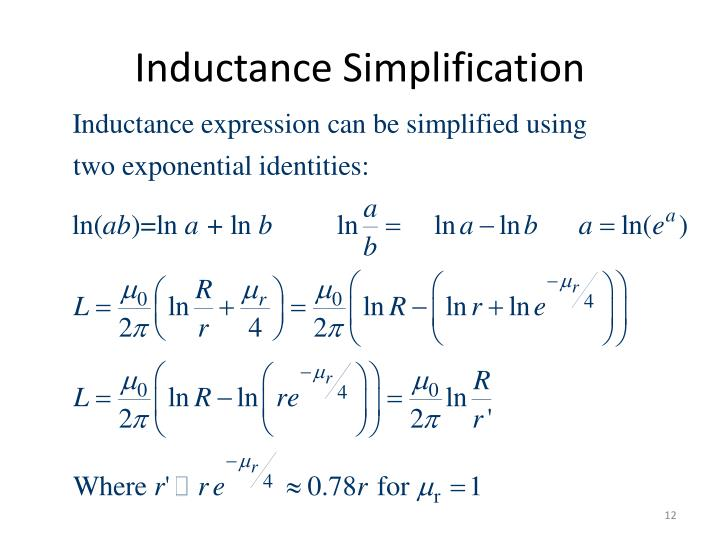 Inductance Simplification