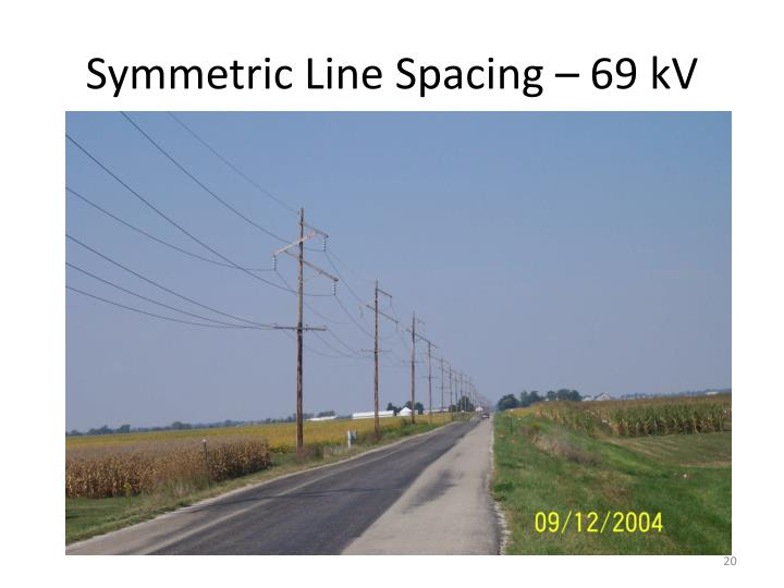 Symmetric Line Spacing – 69 kV