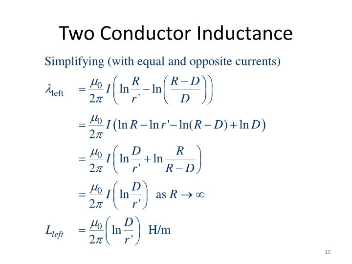 Two Conductor Inductance