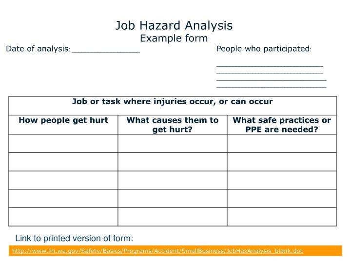 Job Hazard Ysis Template Free | slide14 n